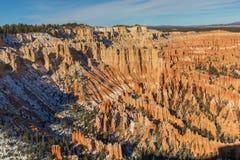 Bryce Canyon National Park Utah Winter Landscape Stock Photo