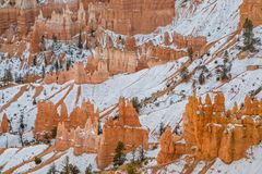 Bryce Canyon National Park Utah in Winter. The scenic landscape of Bryce canyon National park Utah in winter Stock Photography