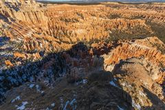 Bryce Canyon National Park Utah Winter Scenic Royalty Free Stock Photography