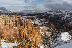 Bryce Canyon National Park Winter Storm View Stock Photography