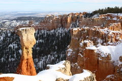 Bryce Canyon National park in winter, Utah, USA Royalty Free Stock Photography