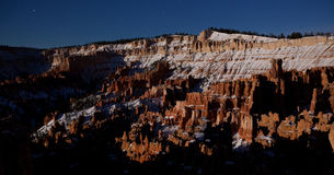 Bryce Canyon Night Panoramic. Bryce Canyon Panoramic Lit By Full Moon royalty free stock image