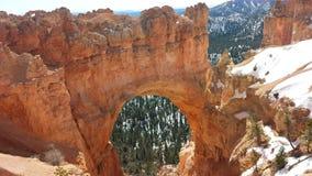 Bryce Canyon olycksbringare- och bågesikt på våren Fotografering för Bildbyråer