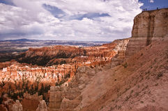 Bryce Canyon Overlook. This is a picture of an overlook over Bryce Canyon, Arizona.b Stock Photo