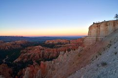 Bryce Canyon Overlook at Sunset Royalty Free Stock Images