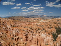 Bryce Canyon. Overlooking Bryce Canyon with all of the hoodoos spread out to the horizon, which contains Grand Escalante royalty free stock photos