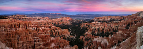 Bryce Canyon Panorama. Panoramic of Bryce Canyon, Utah, taken from Panorama Point Stock Photography