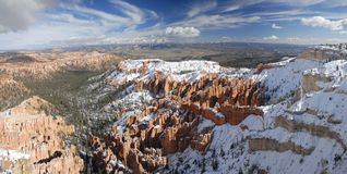 Bryce Canyon panorama in winter Royalty Free Stock Image