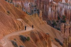 Bryce Canyon. Picture on the edge royalty free stock image