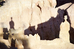Bryce Canyon : queen's rock and shadow Royalty Free Stock Photo