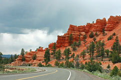 Bryce Canyon with Rain Approaching Royalty Free Stock Images