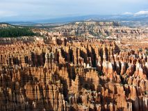 Bryce Canyon in rain royalty free stock photos