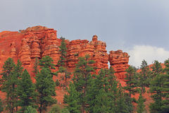 Bryce Canyon rain storm landscape. Royalty Free Stock Images