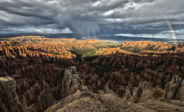 Bryce Canyon Rainbow Stock Photo