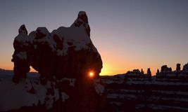 Bryce Canyon Redeye Sunrise image stock