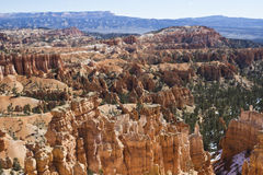 Bryce Canyon From Rim Trail Stock Photo