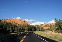 bryce Canyon Road till Arkivfoton