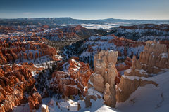 Bryce Canyon in the snow Stock Photography