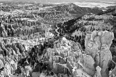Bryce Canyon in the snow Stock Photos