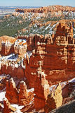 Bryce Canyon Snow. The fantastic hoodoos of Bryce Canyon National Park covered in snow Royalty Free Stock Photo