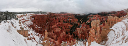 Bryce Canyon Snow stock photography