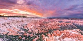Bryce Canyon-Sonnenuntergang lizenzfreies stockfoto