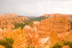 Bryce Canyon after the Summer rains. Bryce Canyon National Park, Utah USA after the storm Royalty Free Stock Images