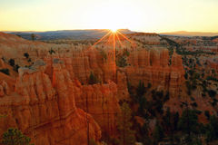 Bryce Canyon Sunbeams Royalty Free Stock Photo