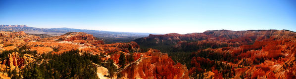 Bryce canyon sunrise point panorama. Panorama of Bryce Canyon National Park from Sunrise Point (Utah, USA Stock Photography