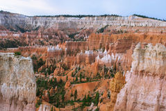 Bryce Canyon before sunrise, Utah, USA. View of Bryce Canyon from the point of sunrise. Until sunrise a few minutes, Utah, USA Royalty Free Stock Photo