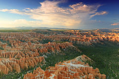 Bryce Canyon Sunset. Dusk landscape in the Utah desert, USA Royalty Free Stock Photo