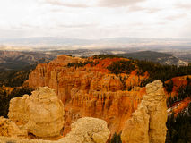 Bryce Canyon There are No Bad Views. Bryce Canyon National Park, a sprawling reserve in southern Utah, is known for crimson-colored hoodoos, which are spire Royalty Free Stock Image