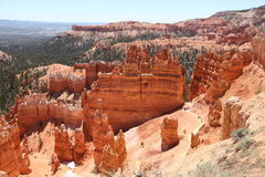 Bryce Canyon. Trail downtown to Bryce Ganyon to expore hoodoos landscape stock photo