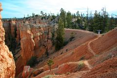 Bryce Canyon Trails. One of the many hiking trails in Bryce Canyon National Park, Utah, USA Royalty Free Stock Image