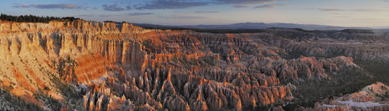 Bryce canyon twilight Stock Images
