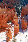 Bryce Canyon, Utah. Thor's hammer standing on snow from Sunset Point, Bryce Canyon, Utah royalty free stock photo