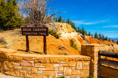 Bryce Canyon Utah. Black Birch Canyon sign in the beautiful Bryce Canyon National Park in Utah royalty free stock image