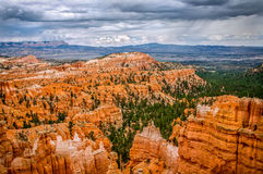 Bryce Canyon Utah. Overlooking Bryce Canyon before a storm Royalty Free Stock Photography