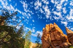 Bryce Canyon, Utah, paesaggio di prospettiva in autunno ad alba Fotografie Stock