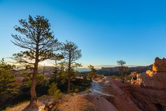 Bryce Canyon, Utah, perspective scenery in autumn at sunrise Stock Photography