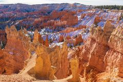 Bryce Canyon Utah Winter Landscape Lizenzfreie Stockfotografie