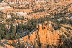 Bryce Canyon Utah Winter Landscape Stock Images