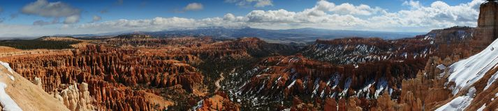 Bryce Canyon Valley Panoramic View Stock Images