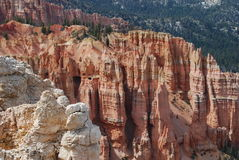 Bryce Canyon View. At the top end of Bryce Canyon at over 9000 feet and the rock formations just don't stop Stock Images