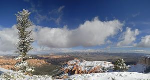 Bryce Canyon in winter from Inspiration Point royalty free stock image