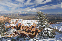 Bryce Canyon in winter from Inspiration Point Royalty Free Stock Photography