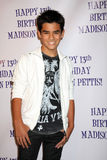 Bryce Cass, Madison Pettis. LOS ANGELES - JUL 31:  Bryce Cass arriving at the13th Birthday Party for Madison Pettis at Eden on July 31, 2011 in Los Angeles, CA Royalty Free Stock Images