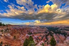 Bryce kanjonliggande Arkivfoto