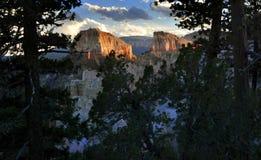 Bryce National Park Radiant Rocks & Ongeluksboden royalty-vrije stock foto's