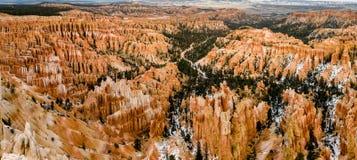 Bryce Point overziet panomara - Bryce Canyon royalty-vrije stock fotografie
